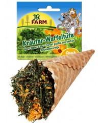 JR FARM  Лакомство для грызунов Травы ассорти в вафельном рожке 60г х 6 штук.