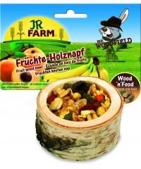 JR FARM  Лакомство для грызунов Чаша деревянная с фруктами 120г