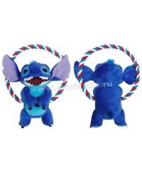 Игрушка д/собак с круглым канатом Stitch 20см