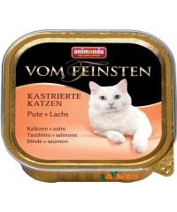 Консервы Animonda Vom Feinsten for castrated cats для кастрированных кошек с Индейкой и Форелью 100 г. х 16 штук
