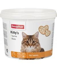 Beaphar Kitty's Витамины для кошек Сердечки Таурин Биотин 750таб