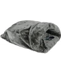 Beeztees Дом-нора для кошек серый, плюш 50*40см
