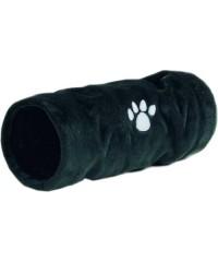 """Beeztees Туннель для кошек """"Crispy"""" плюшевый черный 22*60см"""