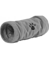 """Туннель для кошек """"Crispy"""" плюшевый серый 22*60см. Beeztees."""