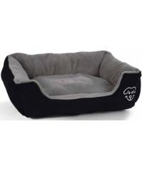 """Лежак I.P.T.S. для собак """"Doomba"""" плюшевый черно-серый 55*50*20см"""
