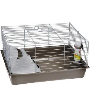 Beeztees Deluxe Клетка для кролика серебристо серая 80*50*44см