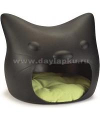 Beeztees Домик для кошек Кошачья голова черная