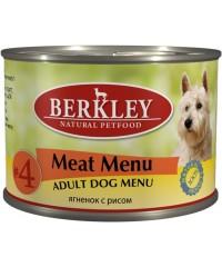 Berkley консервы для собак №4 Ягнёнок с Рисом 200 г