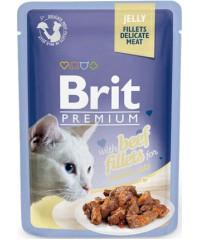 Паучи Brit Premium Jelly Beef fillets кусочки из филе говядины в желе, 85 г Х 24 шт