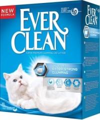 Ever Clean Extra Strength Unscented наполнитель комкающийся для чувствительных кошек (голубая полоска)