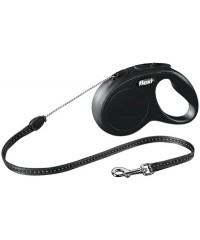 Флекси Рулетка New Classic S 5м до 12кг (трос) черная