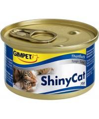 Консервы Gimpet ShinyCat для кошек с Тунцом  2 * 70 г х 8шт.