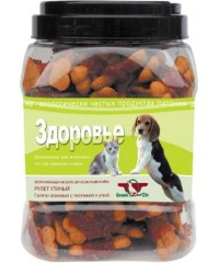 Green Cuisine Лакомство для собак «Здоровье» (галеты с телятиной и уткой) 750гр