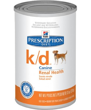 Hill's Диета консервы для собак K/D лечение заболеваний почек с Курицей 370г