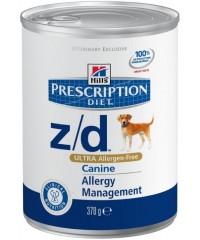 Hill's Диета консервы для собак Z/D лечение острых пищевых аллергий с Курицей 370 г.