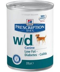 Hill's Диета консервы для собак W/D лечение сахарного диабета, запоров, колитов, контроль веса с Курицей 370 г