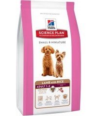 Корм Hill's для собак миниатюрных пород с Ягнененком и Рисом 1,5кг