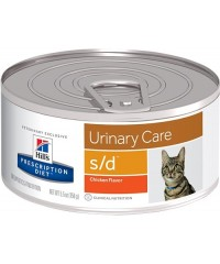 Консервы Hill's Диета для кошек S/D лечение МКБ струвиты 156 г. 12 штук.