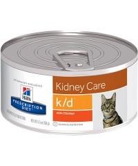 Консервы Hill's Диета для кошек K/D лечение заболеваний почек 156 г. х 12 штук.