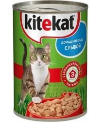 Консервы Kitekat для кошек с Рыбой 410 г. х 24 штуки.