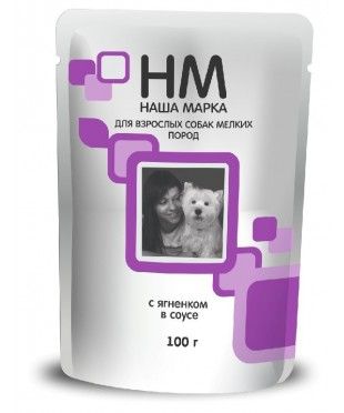Наша Марка паучи для собак мелких пород с Ягненком 100г х 24 штуки