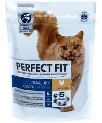PERFECT FIT сухой корм для домашних кошек Курица 650г