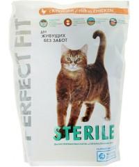 Корм Perfect Fit Sterile для кастрированных котов и стерилизованных кошек с Курицей