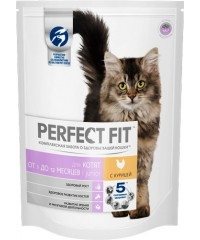 PERFECT FIT сухой корм для котят Курица 650г