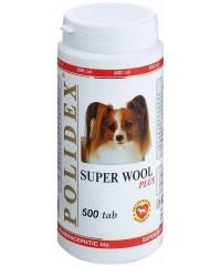 Полидекс Super Wool plus улучшает состояние шерсти, кожи, когтей и профилактика дерматитов 500таб