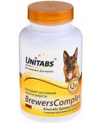Юнитабс BreversComplex Витамины для собак крупных пород с пивными дрожжами 100таб