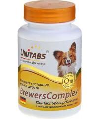 Юнитабс BreversComplex Витамины для собак мелких пород с пивными дрожжами 100таб