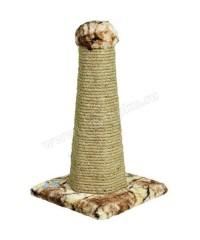 Зооник Когтеточка-столб на подставке шестигранная 34*34*55 см.