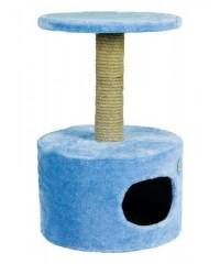 Зооник Дом для кошек круглый с полочкой (мех) 42*66см