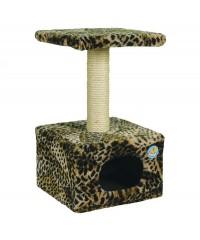 Зооник Дом для кошек малый (мех) 34*34*60 см.
