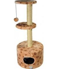 Зооник Дом для кошек круглый с 2-мя площадками (мех) 45*103см
