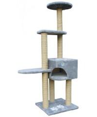 Зооник Комплекс для кошек 4-х этажный (дом и основание с апликацией) 46*76*151см